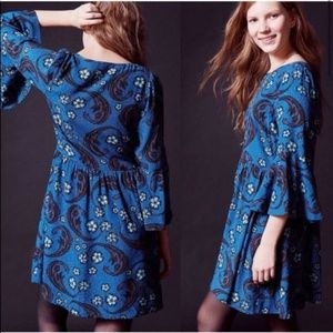 For Love & Lemons x UO | Blue Motif Boho Dress
